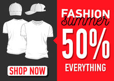 Fashion summer web banner. Sale Stock Images