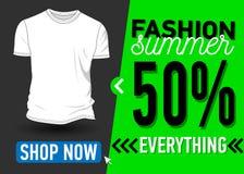Fashion summer web banner. Sale Royalty Free Stock Photos