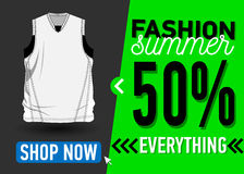 Fashion summer web banner. Sale Royalty Free Stock Photography