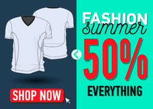 Fashion summer web banner. Sale Royalty Free Stock Images