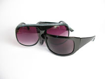 Fashion Sun glasses. On withe background Royalty Free Stock Images