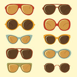 Fashion sunglasses Stock Photography