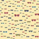Fashion sunglasses accessory eyeglasses vector illustration seamless pattern Royalty Free Stock Photography