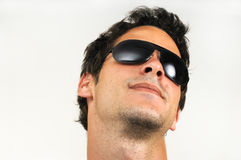 Fashion sunglasses man Stock Images