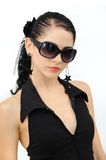 Fashion sunglasses protrait stock photos