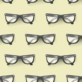 Fashion sunglasses accessory seamless pattern background sun spectacles plastic frame modern eyeglasses vector Stock Image