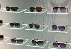 Fashion Sunglasses in shop Stock Photo