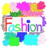 Fashion Symbol Colorful Paper Background illustration Stock Photography