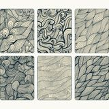 Fashion tablet skins. Modern abstract backgrounds with wave line Stock Photos