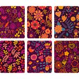 Fashion tablet skins. Modern floral patterns with flowers to cus Royalty Free Stock Images