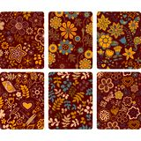 Fashion tablet skins. Modern floral patterns with flowers to cus Royalty Free Stock Image