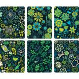 Fashion tablet skins. Modern floral patterns with flowers to cus Stock Images