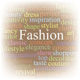 Fashion. Tag cloud Royalty Free Stock Photos