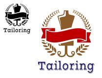 Fashion and tailoring emblem Stock Photography