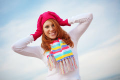 Fashion teenage girl Stock Images