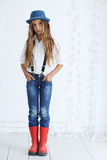 Fashion teenage girl Royalty Free Stock Photography