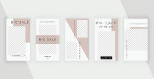 Fashion  templates for stories. Modern covers design for social media, banners, flyers, cards. vector illustration