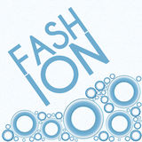 Fashion Text Blue Rings Royalty Free Stock Photography