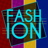 Fashion Text Colorful Halftone Background Stock Images
