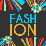 Fashion Text Dark With Colorful Elements Royalty Free Stock Photo