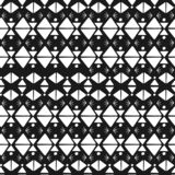 Fashion textile print seamless pattern motif with aztec stripes hand drawn black and white colors vector illustration. Aztec motif textile print seamless pattern stock illustration