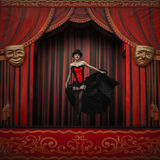 Fashion in theater. Drama Royalty Free Stock Photography