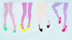 Fashion tights and shoes Stock Photos