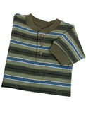 Fashion: Toddler Boy's Striped Long Sleeve Shirt Royalty Free Stock Image
