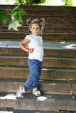 Fashion toddler girl Royalty Free Stock Photos