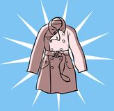 Fashion Trench clothes coat Stock Photography