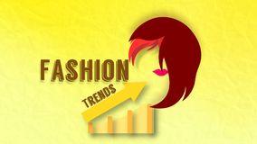 Fashion Trends Illustration. Info graphic fashions trends ladies makeup hairstyle vector graphics royalty free illustration