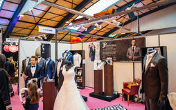 Fashion trends at  Salon du Marriage wedding fair France Stock Images