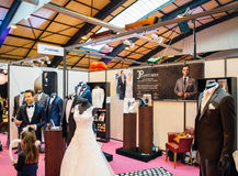 Fashion trends at  Salon du Marriage wedding fair France Royalty Free Stock Images