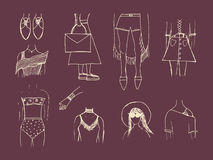 Fashion trends in women`s clothing. Street outfit. Casual style. Royalty Free Stock Photography