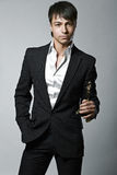 Fashion trendy elegant young man Royalty Free Stock Images