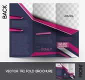 Fashion Tri-fold Brochure Stock Photography