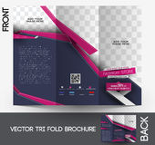 Fashion Tri-fold Brochure Royalty Free Stock Photography