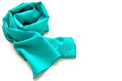 Fashion turquoise green scarf Stock Photography