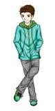 Fashion Turquoise Jacket Royalty Free Stock Images