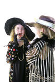 Fashion twins secret on white vertical Stock Photos