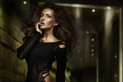 Fashion type photo of a stunning young beauty Stock Images
