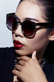 Fashion under glasses b Royalty Free Stock Images