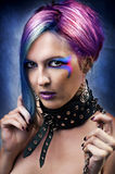 Fashion underground punk look. Royalty Free Stock Photos