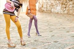 Fashion urban people, womans,outdoor. Lifestyle Stock Photos