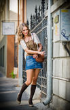 Fashion urban portrait of beautiful model on the street Stock Photo