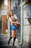 Fashion urban portrait of beautiful model on the street Stock Photo