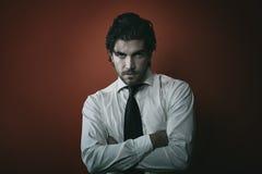 Fashion vampire man portrait with dark tones Royalty Free Stock Images