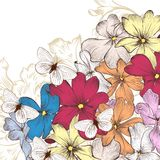 Fashion vector background with flowers Stock Photo