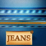 Fashion vector background with jeans fabric texture Royalty Free Stock Photography