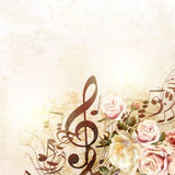 Fashion vector background with roses in vintage style Stock Photo